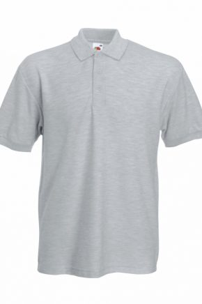 POLO FRUIT OF THE LOOM GRIS 63204