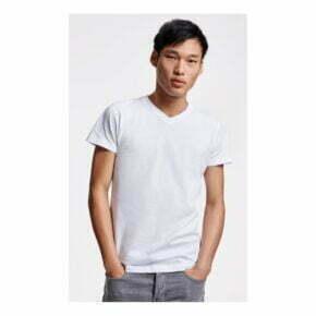 Camiseta personalizada barata cuello pico hombre roly 166503