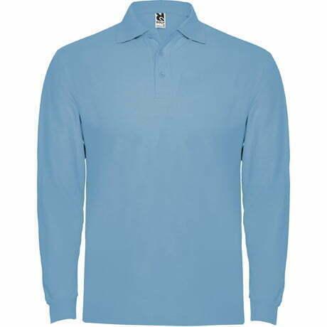 Polo manga larga hombre azul claro - 6635 Roly
