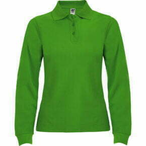 Polo mujer manga larga verde - 6636 Roly