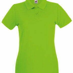 Polo manga corta mujer color verde - 63030 Premium Fruit of the Loom