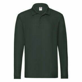 Polo manga larga de hombre color verde - 63310 - Fruit of the Loom