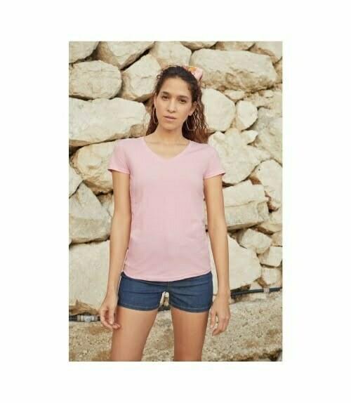 Camisetas personalizadas baratas manga corta mujer fruit of the loom 61398