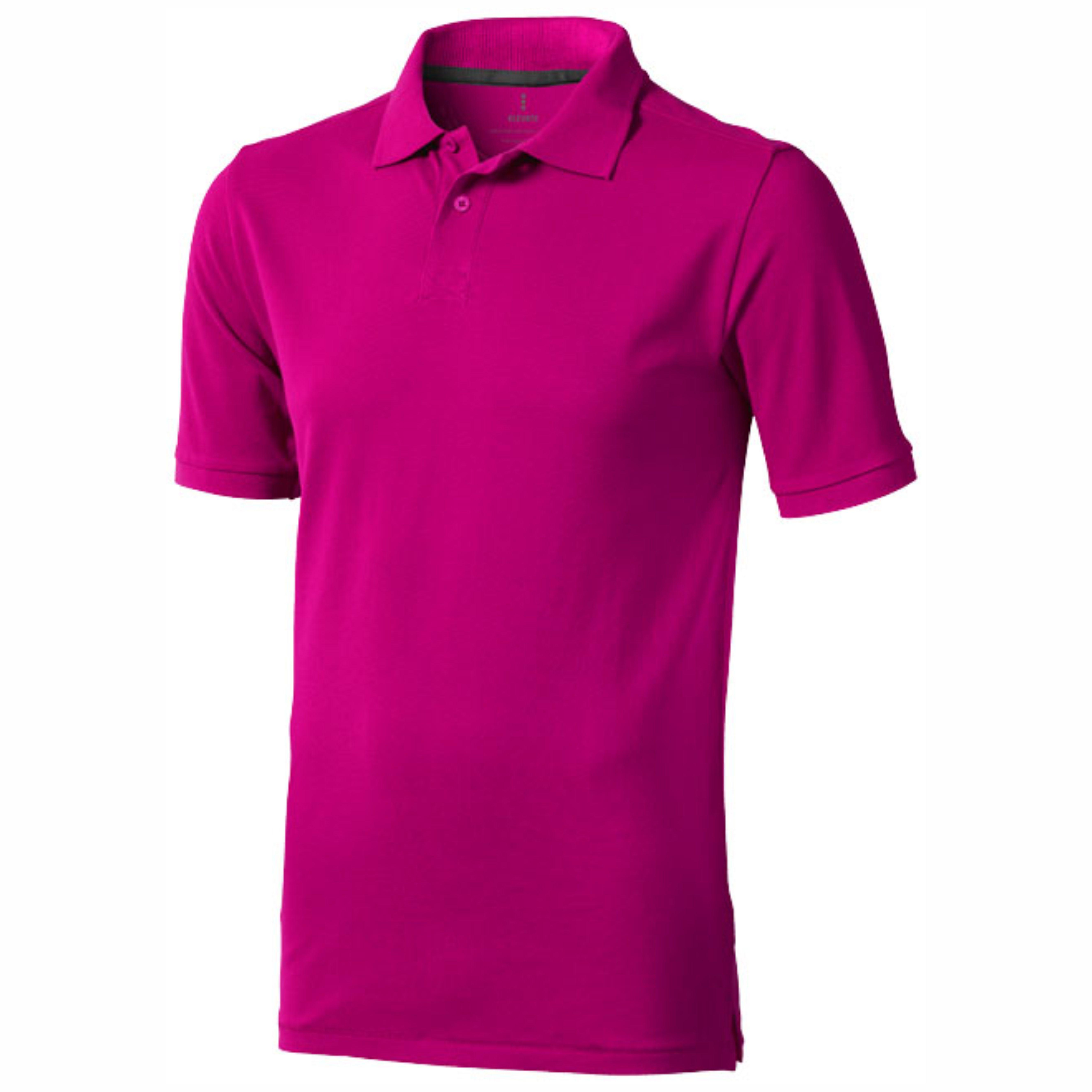 Polo manga corta de hombre color rosa Elevate 2338080