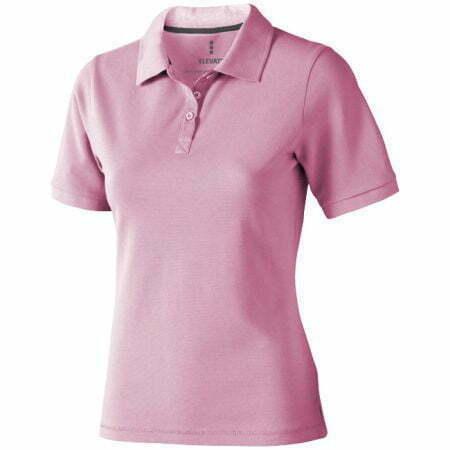 Polo manga corta de mujer color rosa Elevate 2338081