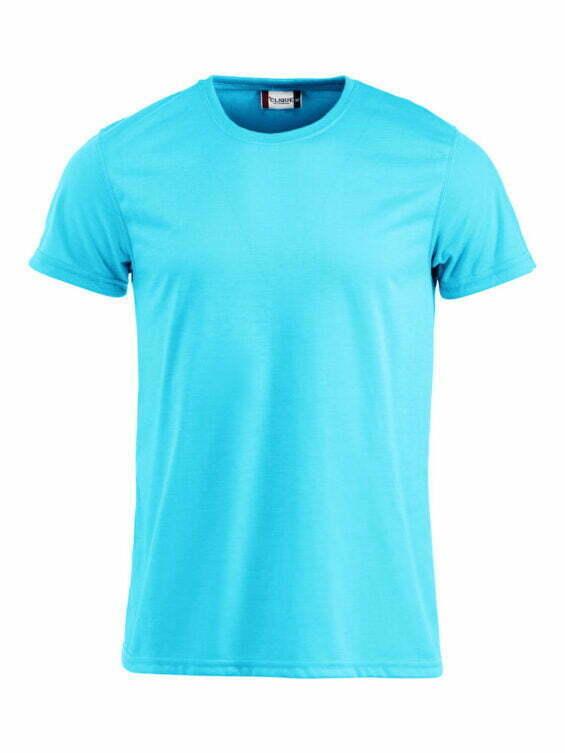 camiseta personalizada online turquesa manga corta hombre 029345 Cliqué 100% Poliéster