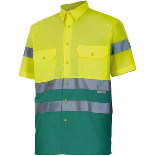 Camisa de Hombre manga corta Alta visibilidad - Serie 142