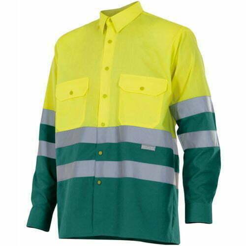 Camisa de Hombre manga larga Alta visibilidad - Serie 144