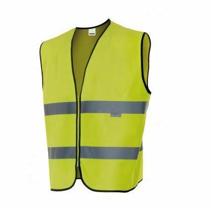 Chaleco alta visibilidad ropa de trabajo barata Velilla serie 145, 100% poliéster