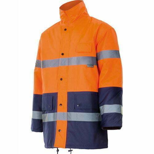 Parka Laboral alta visibilidad naranja-marino Serie 166