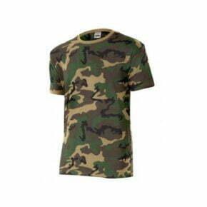 Ropa de trabajo barata camiseta camuflaje industria base Velilla serie 506, 100% algodón