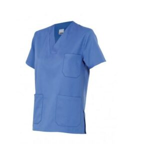 Ropa de trabajo barata camisola pijama manga corta sanidad y limpieza Velilla serie 589, 35% algodón 65% poliéster
