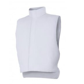 Ropa de trabajo barata chaleco industria base alimentación Velilla serie 255901, 35% algodón 65% poliéster