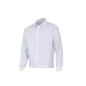 Ropa de trabajo barata chaqueta industria básica alimentación Velilla serie 256001, 35% algodón 65% poliéster