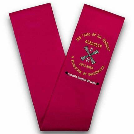 Bandas de graduación bordadas bf