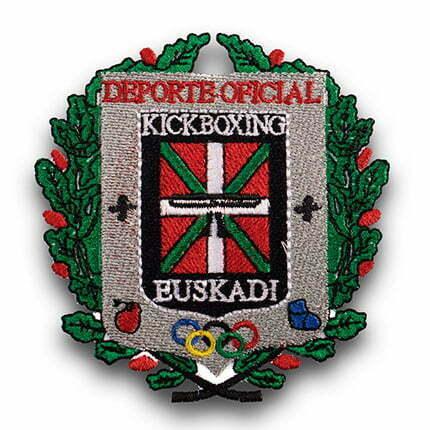 parche bordado personalizado escudo kitboxing