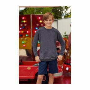 camiseta manga larga de niño fruit of the loom 61007 color gris