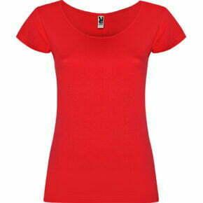 Camiseta de mujer cuello redondo - color rojo 166647