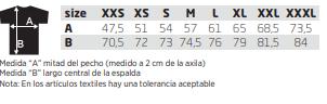 Medidas Sudadera R.2338223