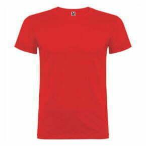 Camiseta manga corta hombre color rojo - 6554 - Roly