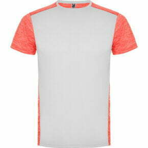Camiseta infantil manga corta color blanco y naranja - Zolder 166653