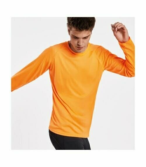 Camiseta personalizada barata manga larga hombre roly 160415