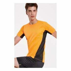 Camiseta tecnica bicolor personalizada barata manga corta roly 166595
