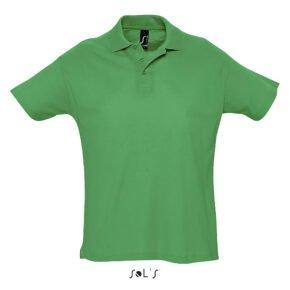 Polo manga corta hombre color verde pradera - 11342 - Sol´s