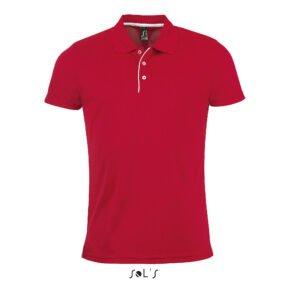 Polo manga corta hombre color rojo - 01180 - Sol´s