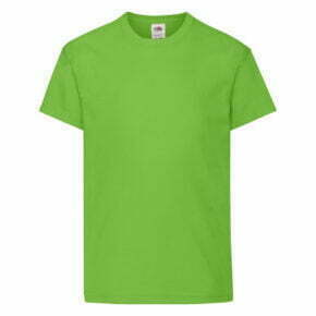 Camiseta infantil color verde manga corta - 61019 - Original T. - Fruit of the Loom
