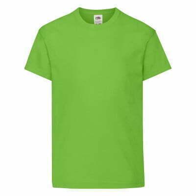 Camiseta infantil color verde manga corta - 61019 - Original T Fruit of the Loom