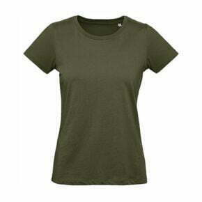 camiseta manga corta algodón orgánico mujer color verde oliva 2702442 B&C