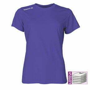 Camiseta técnica especial atletismo color morado manga corta mujer - 13152 Luanvi