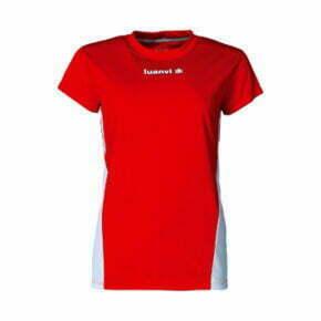 Camiseta deportiva Atletismo mujer manga corta color rojo - 13798 - Luanvi