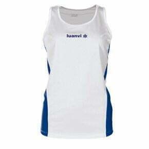 Camiseta deportiva tirantes mujer color blanco - 13797 Luanvi