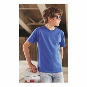 Camisetas personalizadas online baratas manga corta algodon organico niño russell r-108b