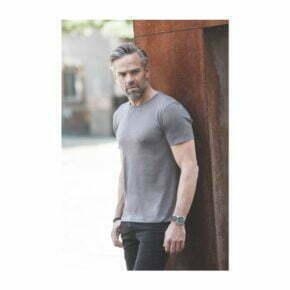 camiseta de algodon organico russell modelo r108m