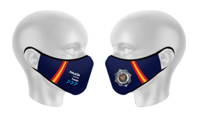 mascarilla anatómica reutilitzable personalizada policia Toledo