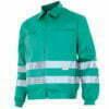 Cazadora alta visibilidad ropa de trabajo barata Velilla Serie 154, 65% algodón 35% poliéster