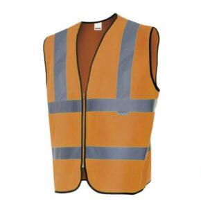Chaleco profesional alta visibilidad ropa laboral barata Velilla serie 305901, 100% poliéster