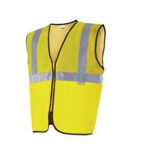 Chaleco profesional con rejilla alta visibilidad ropa de trabajo barata Velilla serie 146, 100% poliéster
