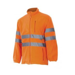 Chaqueta polar alta visibilidad ropa de trabajo barata Velilla serie 181, 100% poliéster