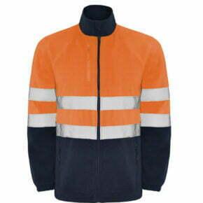 Chaqueta polar bicolor alta visibilidad ropa de trabajo barata Roly 169305, 100% poliéster