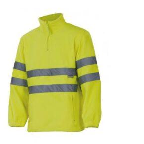 Forro polar alta visibilidad ropa laboral barata Velilla serie 180, 100% poliéster