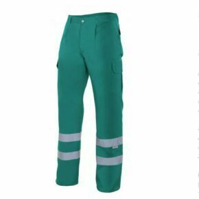 Pantalón alta visibilidad ropa de trabajo barata Velilla serie 159, 35% algodón 65% poliéster