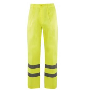 Pantalón alta visibilidad ropa laboral barata Velilla serie 160, 20% algodón 80% poliéster
