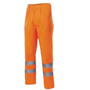 Pantalón forrado alta visibilidad ropa laboral barata Velilla Serie F160, 20% algodón 80% poliéster