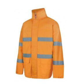Parka alta visibilidad ropa de trabajo barata Velilla Serie 306004, 100% Poliéster