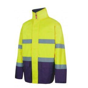 Parka alta visibilidad ropa laboral barata Velilla Serie 306002 - 100% Poliéster