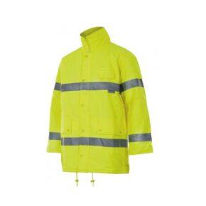 Parka alta visibilidad ropa laboral barata Velilla serie 165 Poliéster 100%